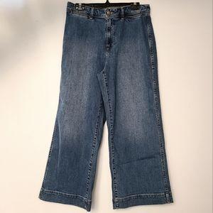 EUC GAP High-rise Wide Leg Cropped Jeans Sz 12